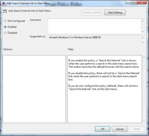 פיטילון שרותי מחשוב - חיפוש באינטרנט משורת ההתחל ב- Windows 7