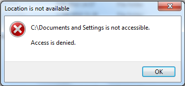 פיטילון שרותי מחשוב - איך להיכנס לתיקיית Documents and Settings או Local Settings ב-Windows 7